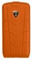 Кожаный флип-кейс для Samsung Galaxy S4 Lamborghini Aventador-D1 (оранжевый)