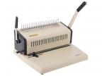 Брошюровщик Office Kit B2115,  ручная перфорация 15 листов,  переплет max 500 листов,  пластик. пружина (6-51мм),  регулир. отступа,  откл. ножей,  2 рукоятки