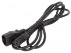 Кабель монитор - компьютер (UPS -> устройство) 220V Telecom <TP020-IEC320-C13/ C14-1. 8-BK>,  1, 8 м