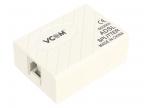 Разветвитель VCOM ( AG-ka63 /  HL-2003 /  VTE7703 ) ADSL Splitter (AnnexA,  вход 1xRJ-12,  выход 2xRJ-12)