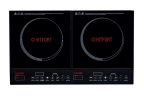 Индукционная плитка KITFORT КТ-104,  2 комфорки,  стеклокерамика,  таймер,  дисплей,  черный