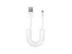 Кабель Deppa USB - 8-pin Lightning для Apple, витой, 1,5 м.. белый