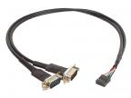 Кабель-адаптер ORIENT UMB-2S, кабель-адаптер для подключение к мат.плате, USB (8pin) -> 2xRS232 DB9M