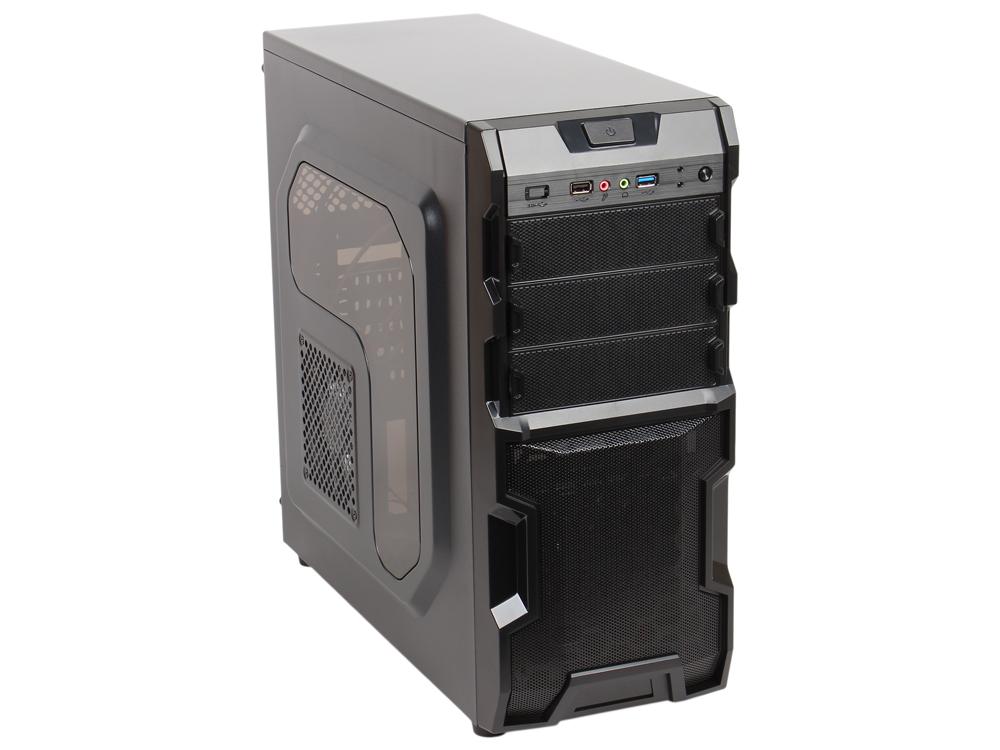 Корпус 3Cott 1816 ATX,  без БП,  окно,  1x USB3. 0 (с доп.  коннектором USB 2. 0),  1x USB2. 0,   2х12см LED новые красные вент-ры,  HD аудио,  фильтр от пыли.