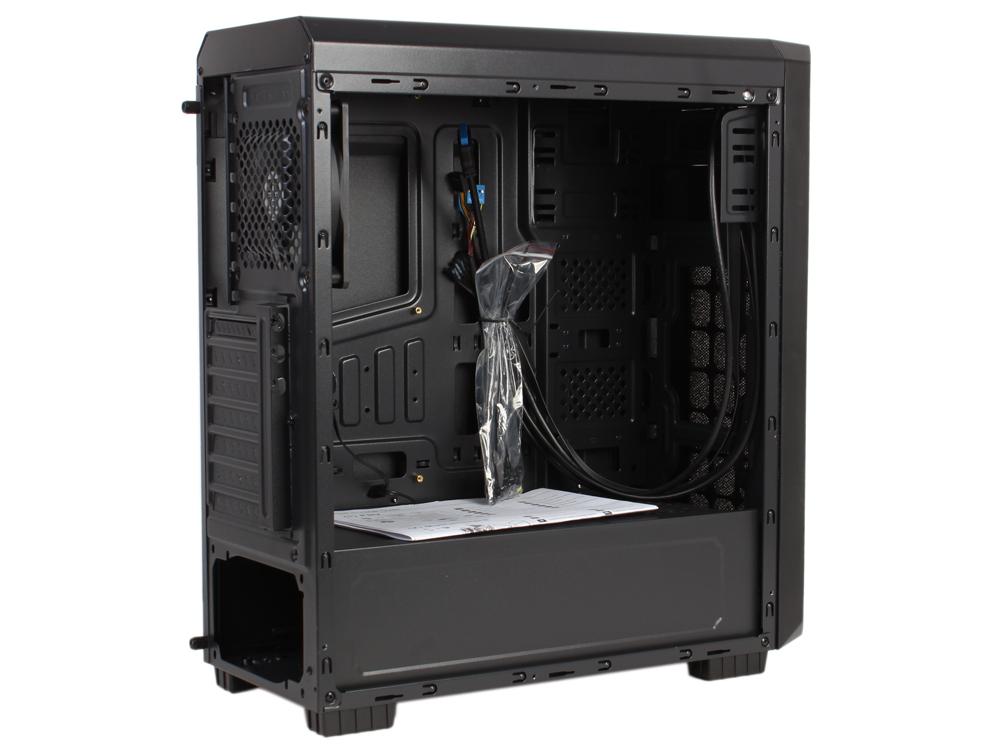 Корпус Aerocool [PGS-A] Aero-300 FAW чёрный с большим акриловым окном ,  ATX,  без БП,  1x USB 3. 0 + 2x USB 2. 0