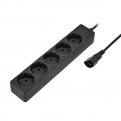 Удлинитель Sven Special Base 0, 5m 5 розеток вилка IEC-320 (для подключения к UPS) Черный
