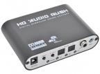 Аудио декодер ORIENT DAC0406(N), аудио декодер 5.1/ 2.1 Dolby Digital EX /  DTS-ES /  Dolby Pro Logic II /  DTS /  AC3, входы: 2x опт.Toslink/ 1x коакс.RCA/ 1x AUX (3.5мм), выходы: 6xRCA (FL/ FR, SL/ SR,CEN,SW