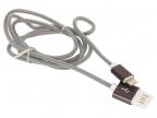 Кабель USB 2. 0 Cablexpert,  AM/ Lightning 8P,  1м,  армированная оплетка,  разъемы темно-серый металлик CCB-ApUSBgy1m