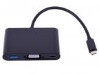 Cablexpert Переходник USB Type-C/ VGA + USB3 + подзарядка USB-C,  15см