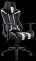 Кресло для геймера Aerocool AC120 AIR-BW , черно-белое, с перфорацией, до 150 кг, размер, см (ШхГхВ) : 70х55х124/ 132.