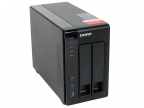 Cетевой накопитель QNAP TS-251+-8G Сетевой RAID-накопитель, 2 отсека для HDD, HDMI-порт. Intel Celeron J1900 2,0 ГГц, 8ГБ.