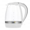 Чайник электрический UNIT UEK-254 (Белый); стекло,  1. 7л. ,  2200Вт.