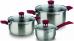 Набор посуды Rondell RDS-817 6 предметов (кастрюли 18, 20, ковш 14см) Strike