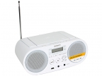 Аудиомагнитола Sony ZS-PS50W White, CD-магнитола, мощность звука 4 Вт, MP3, тюнер AM, FM, воспроизведение с USB-флэшек