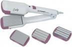 Выпрямитель волос FIRST AUSTRIA FA-5670-1-PI, 25 Вт., 4 вида пластин, световой индикатор, белый/ розовый