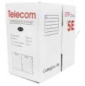Сетевой кабель бухта 305м UTP 5e Telecom TC1000C5EPro\5 EN(CU) Outdoor solid Медь, 4 пары, внешний