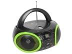 Аудиомагнитола BBK BX150BT черный/ зеленый