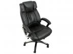 Кресло руководителя COLLEGE H-8766L-1,  черный экокожа,  120 кг,  подлокотники кожа/ хром,  крестовина хром,  (ШxГxВ),  см 71x74x111-121