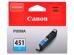 Картридж Canon CLI-451C голубой (cyan) 332 стр.