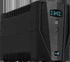 ИБП Aerocool Aero Shield C1500 ,  1500 ВА /  900 Вт,  линейно-интерактивный,  2 разъёма IEC,  4 розетки Schuko ,  аккумулятор 2 х 12 В /  9 А·ч,  LED дисплей