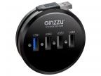 Концентратор USB 3. 0/ 2. 0 Ginzzu GR-314UB,  4 порта (1xUSB3. 0+3xUSB2. 0)