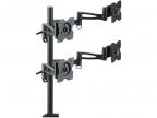 """Кронштейн для мониторов Kromax OFFICE-4,  Black для 4-х LCD мониторов 15""""-32"""",  5 ст.  свободы,  3D вращение,  VESA 75/ 100,  max 4х8 кг"""