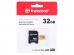 Карта памяти Transcend 32GB microSDXC Class 10 UHS-I U1 V30 R95, W60MB/s с адаптером