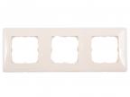Рамка Legrand Cariva 3 поста горизонтальный/ вертикальный монтаж слоновая кость 773753