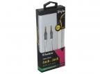 Кабель Belsis BS1021 audio 3,5мм jack/ jack, 2м, позолоченные контакты, спиральный, белый