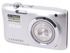 "Фотоаппарат Nikon Coolpix A100 Silver (20. 1Mp,  5x zoom,  SD,  USB,  2. 6"")"