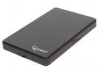 "Внешний корпус 2. 5"" Gembird EE2-U2S-40P,  черный,  USB 2. 0,  SATA,  пластик"