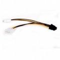 Кабель питания 2хMolex(2x4pin) ->PCI-E 6pin, для подкл. видеокарты к б/ п, Gembird CC-PSU-6