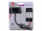 FM-трансмиттер DEFENDER RT-PRO Пульт ДУ,  USB для зарядки