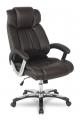 Кресло руководителя COLLEGE H-8766L-1 Коричневый, экокожа, 120 кг, подлокотники кожа/ хром, крестовина хром, (ШxГxВ), см 71x74x111-121