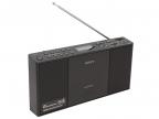 Аудиомагнитола Sony ZS-PE60 черный CD,  MP3 c CD,  USB,  цифровой FM/ AM тюнер,  аудио вход