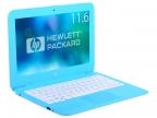 """Ноутбук HP Stream 11-y008ur (2EQ22EA) Celeron N3060(1.6)/ 2Gb/ 32Gb SSD/ 11.6"""" HD/ WiFi/ BT/ Cam/ Win10 / Aqua Blue"""