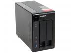 Cетевой накопитель QNAP TS-251+-2G Сетевой RAID-накопитель,  2 отсека для HDD,  HDMI-порт.  Intel Celeron J1900 2, 0 ГГц,  2ГБ.