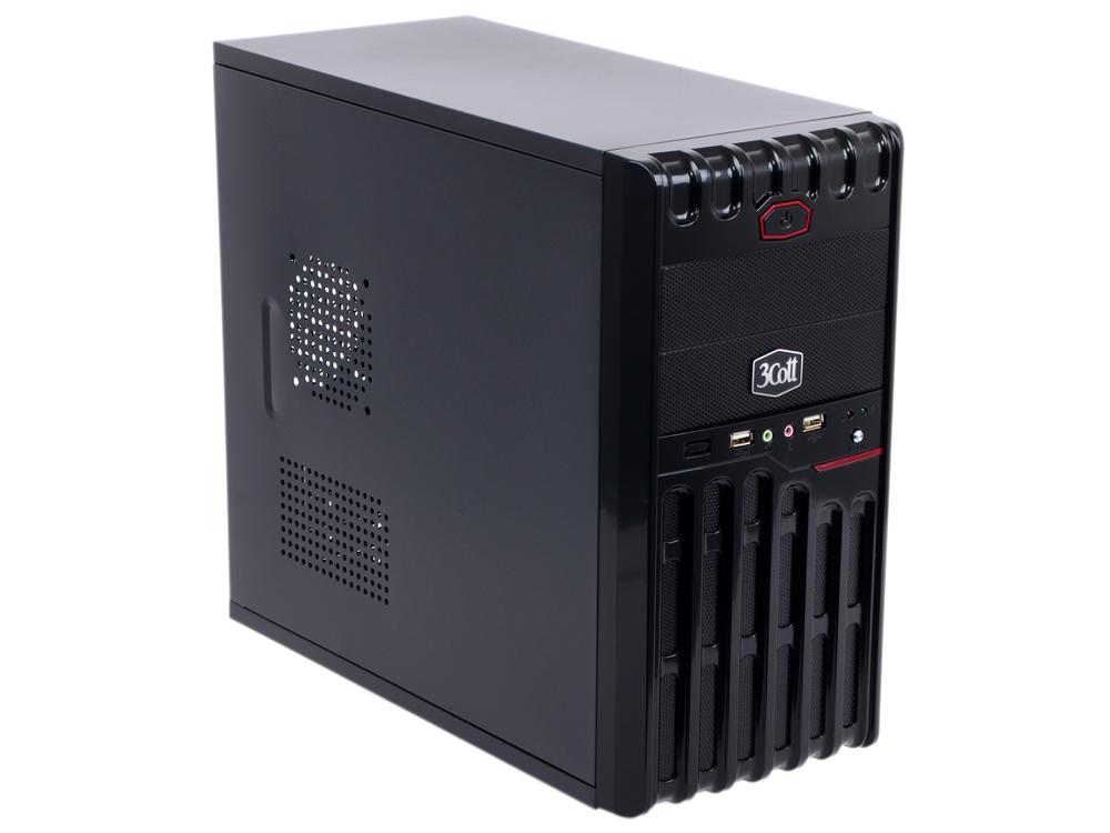 """Корпус 3Cott 3C-MATX-XR1B """"Nebula"""" для игрового компьютера,  mATX,  блок питания 500 Вт,  выходы USB 2. 0x2,  аудиовыход,  микрофонный вход"""
