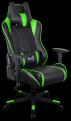 Кресло для геймера Aerocool AC220 AIR-BG ,  черно-зеленое,  с перфорацией,  до 150 кг,  размер,  см (ШхГхВ) : 66х63х125/ 133.