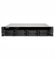 Сетевое хранилище QNAP TS-873U-RP-8G Сетевой RAID-накопитель, 8 отсеков для HDD, 2 порта 10 GbE SFP+, 2 слота M.2 SSD, стоечное исполнение, AMD RX-421ND 2,1 ГГц (до 3,4 ГГц ), 8 ГБ