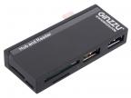 Универсальный OTG картридер Ginzzu GR-562UB черный Type C ,  SD/ SDXC/ SDHC/ MMC,  2 слота - microSDXC/ SDXC/ SDHS + 1 порт USB 3. 0 + 1 порт USB 2. 0