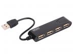 Концентратор USB2. 0 HUB 4 порта Ginzzu GR-424UB (4 порта)
