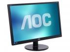 "Монитор 24"" AOC E2460SH Black 1920x1080, 1ms, 250 cd/ m2, 1000:1 (DCR 20M:1), D-Sub, DVI, HDMI, 2Wx2, Headph.Out, vesa"