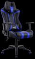 Кресло для геймера Aerocool AC120 AIR-BB ,  черно-синее,  с перфорацией,  до 150 кг,  размер,  см (ШхГхВ) : 70х55х124/ 132.