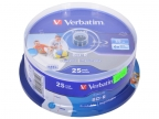 Диск Blu-Ray VERBATIM BD-R 25 GB 6x CB/ 25 Full Ink Print NO ID (43811)