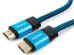 Кабель HDMI Cablexpert, серия Gold, 3 м, v1.4, M/M, синий, позол.разъемы, алюминиевый корпус, нейлон