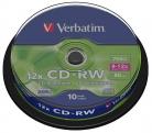 Диски CD-RW 80min 700Mb Verbatim 12x 10 шт Cake Box 43480