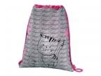 Мешок для сменной обуви Hama Lovely cat серый/ розовый 00139113