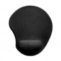 Коврик для мыши SVEN GL009BK,  черный,  250х220х20 мм,  материал: гель на прорезиненной основе,  лайкра