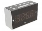Радиобудильник HARPER HCLK-2041 (Радио в качестве мелодии будильника,  настройка двух будильников,  20 радиостанций,  сеть или батарейки)